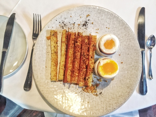 The Shortmarket Club egg and soldiers